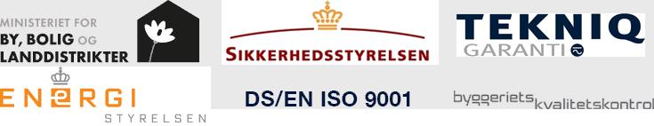 Billig-tilstandsrapporter.dk er godkendt af disse myndigheder og kvalitetsordninger